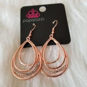 Paparazzi Rose Gold diamond earrings
